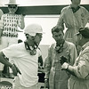 Carroll Shelby & Masten Gregory at 1960 12 hrs of Sebring.  They drove the Maserati Tipo 61 number 22, and dropped out on lap 3 with an engine failure.