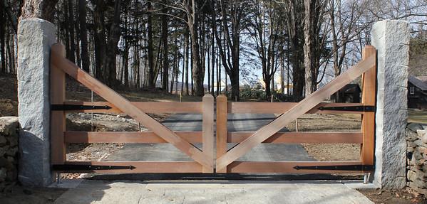 177 - 359738 - Washington CT - Custom Mahogany Driveway Gates