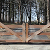 177 - 359738 - Washington CT - Custom Mahogany Driveway Gates