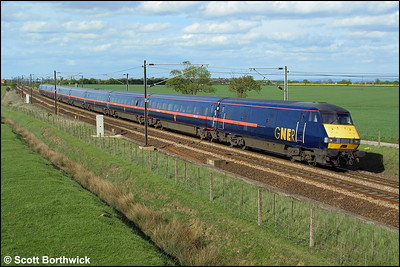 82222 heads a London Kings Cross bound service  propelled by 91132 at Colton Junction, York on 07/05/2003.