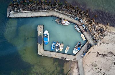 Hafen auf Bornholm von oben