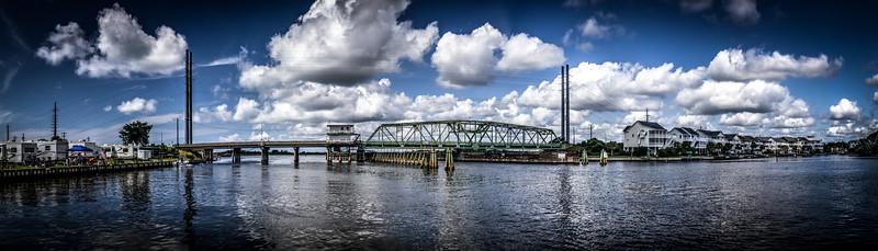 Best Surf City Swing Bridge Panoramic Photo
