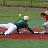 Lynn, Ma. 6-5-17. Christian Burt of Lynn Classical High, gets back to first before the ball gets to Braden Haley of Marblehead at Fraser Field today.