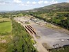 The former mining site at Silvermines which closed completly in 1993. Various proposals have been floated for its reuse, presently a steel fabrication company uses part of the site. I believe Iarnrod Eireann stored freight wagons here in the early to mid 2000's. Sun 25.07.21