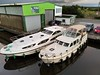 The Emerald Star Base at Portumna with a Carrickcraft Linssen 35.0 moored up for the night. Mon 05.07.21