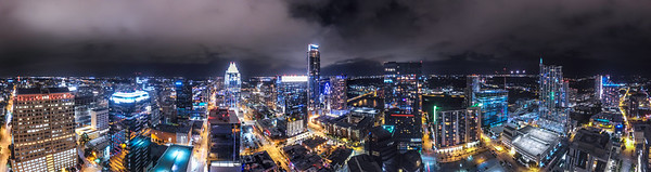 270 degree view of downtown Austin