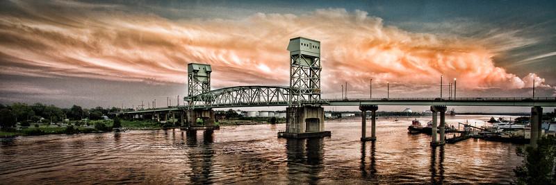 Wilmington NC Downtown Draw Bridge