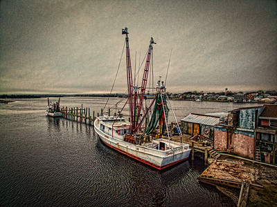 Drone Photo of Shrimp Boat