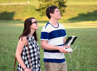 Drone Couple - pilot and ground crew