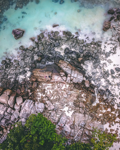 Aerial View Of A Beach Coast In Thailand | Drone Photography