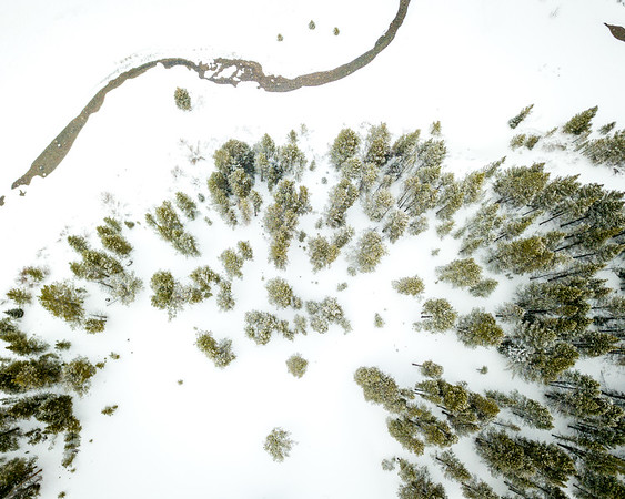 Frankieboy Photography | Snow Path | Drone Aerial Photography