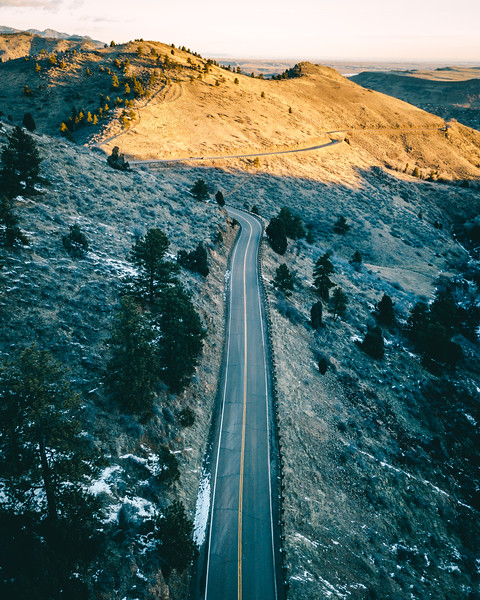 Frankieboy Photography | Road in Colorado |  Drone Aerial Photography