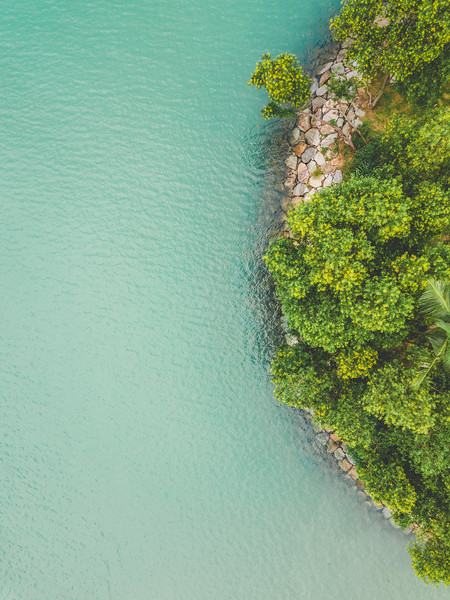 Aerial View Of Ocean Coast In Thailand | Drone Photogrpahy