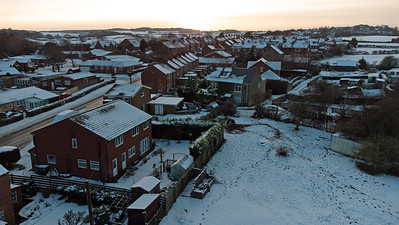 UK Weather: Snow lingers in streets and fields, Greenside, England
