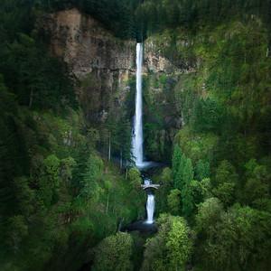 Multnomah Falls, Oregon Drone Image
