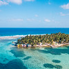 Aerial view of Tobacco Caye in Belize