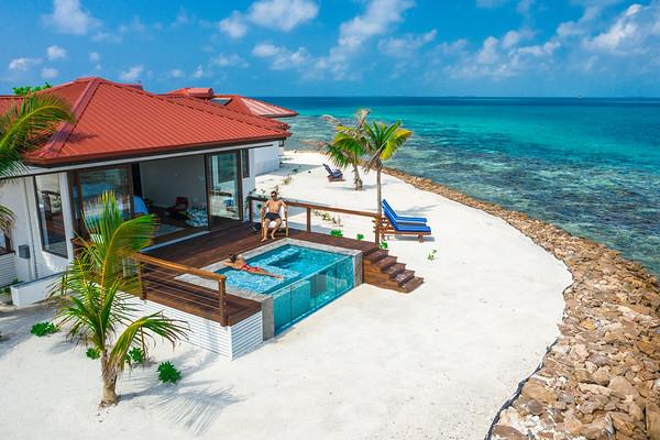 Honeymoon suite at Ray Caye Island Resort, Belize