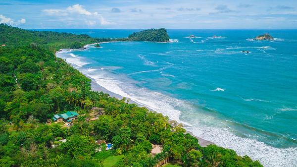 Aerial View of Parque Manuel António, Quepos, Costa Rica,
