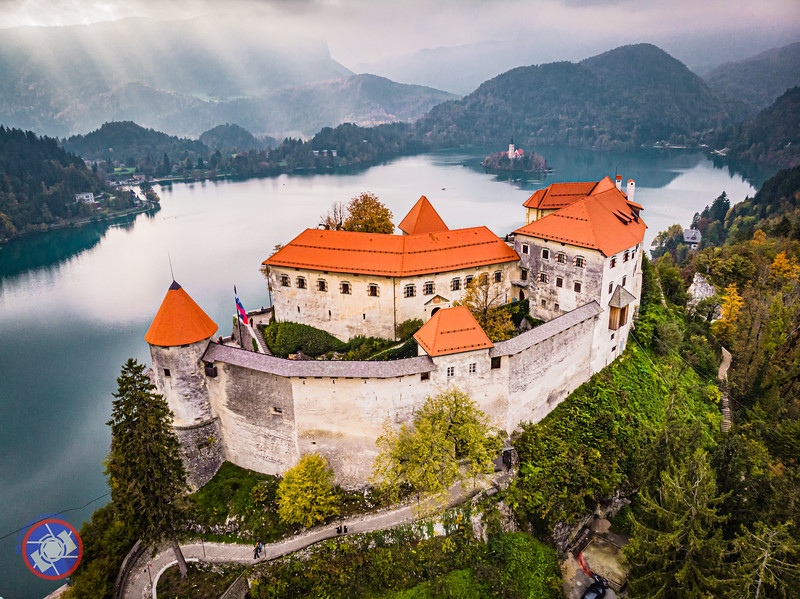 Bled Castle and Lake Bled as Seen by a Drone (©simon@myeclecticimages.com)