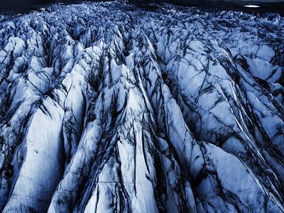 Iceland Glacier Aerial