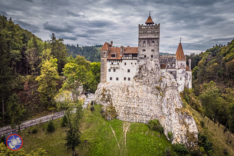 Birds-Eye View of Bran Castle in Transylvania, Romania (©simon@myeclecticimages.com)