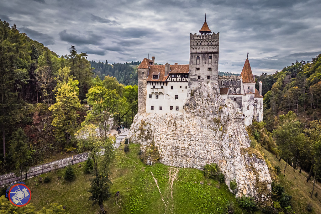 Bran Castle in  Romania -Sometimes Associated with Count Dracula, the Creation of Bram Stoker (©simon@myeclecticimages.com)