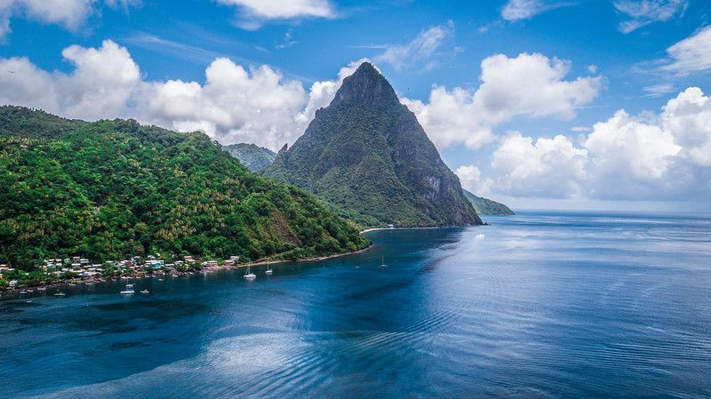 Les Pitons in St. Lucia