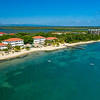 Aerial Drone view of Umaya Resort in Placencia, Belize
