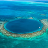Aerial view of the Belize Blue Hole