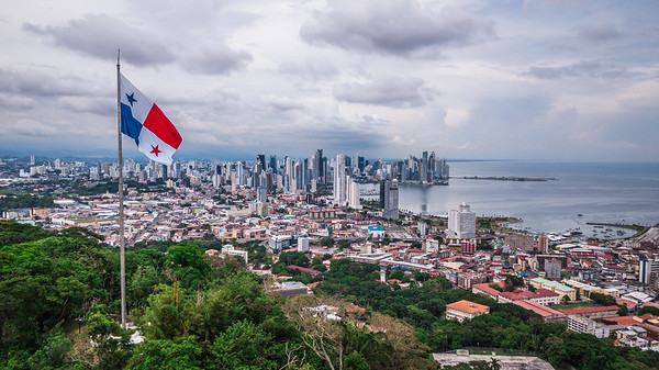 Aerial view of Panama City, Panama