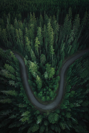 Oregon Road Drone Photography