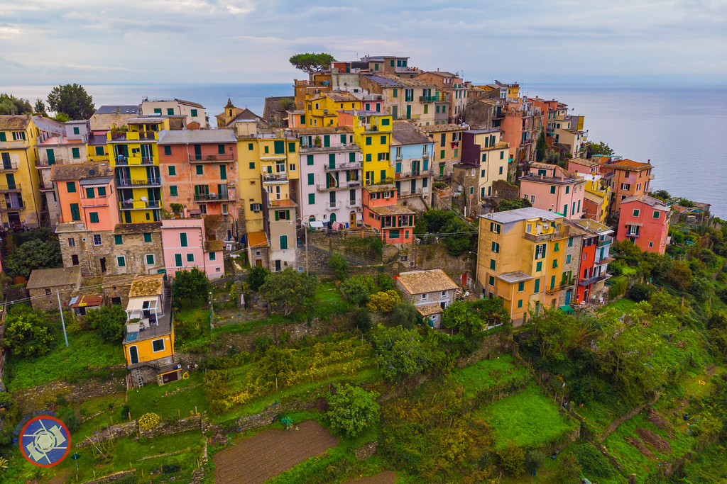 Aerial View of Corniglia - One of the Village in Cinque Terre, Italy (©simon@myeclecticimages.com)