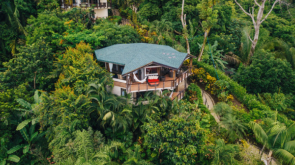 Aerial view of Tulemar Resort in Quepos, Costa Rica