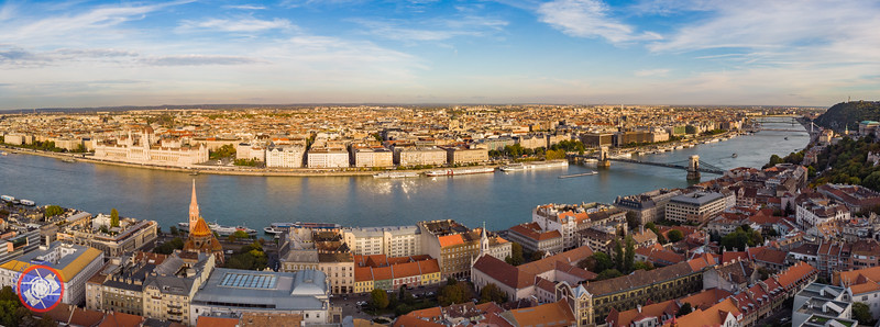 An Aerial Panoramic View of Budapest (©simon@myeclecticimages.com)