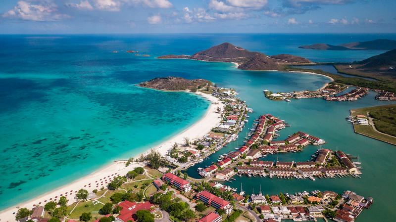 Jolly Harbor and Jolly Beach in Antigua