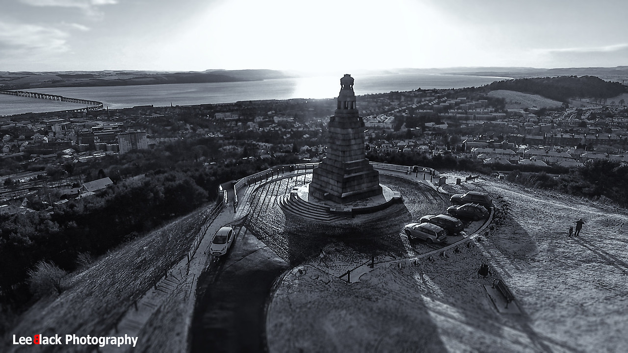 Shadows on The Law Hill, Dundee...