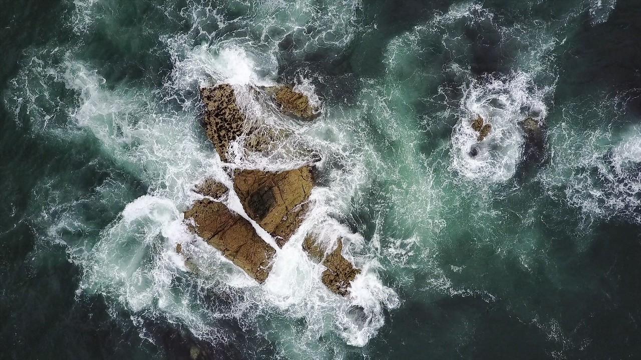 Rocks off Hanois lighthouse, Guernsey