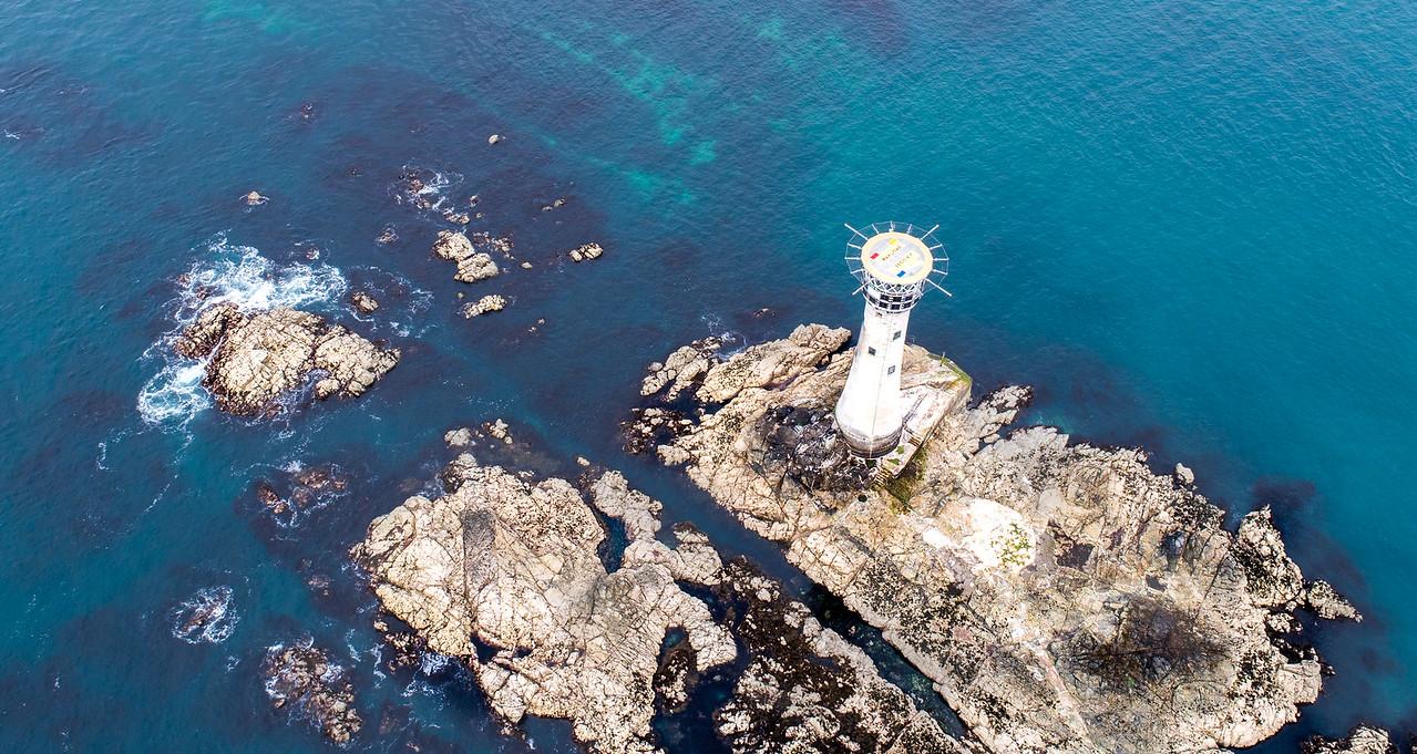 Hanois Lighthouse, Pleinmont, Guernsey