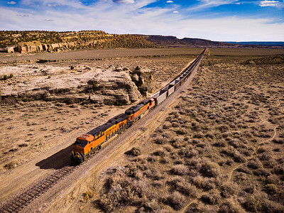 Photos near the climbing are west of Gallup, including a BNSF train
