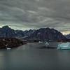 Scoresbysund, Ostgronland, Greenland. Drone photography