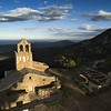 View to St.Mary Chapel and Sant Pere de Rhodes Monastery