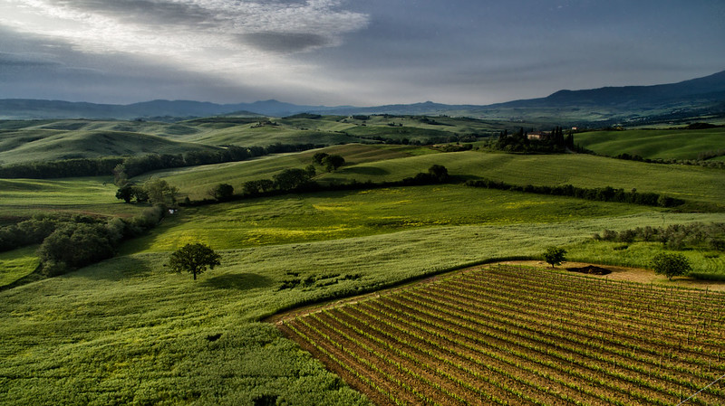 Flying Over the Hills of Toscana