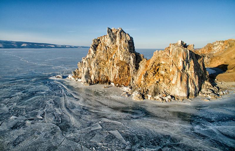 Shamanka Rock at sunset