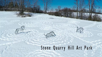 Snow Drawings at Stone Quarry Hill Art Park
