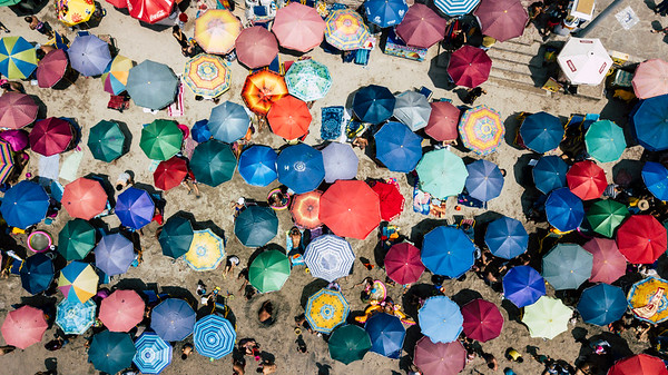 Umbrellas in San Bartolo