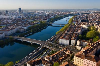 Le Rhône depuis la Croix Rousse