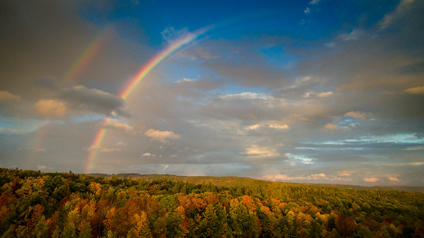 Rainbow over Heath MA