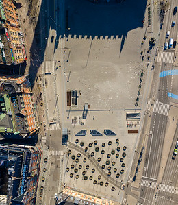 Copenhagen central square - 9 photos stitched