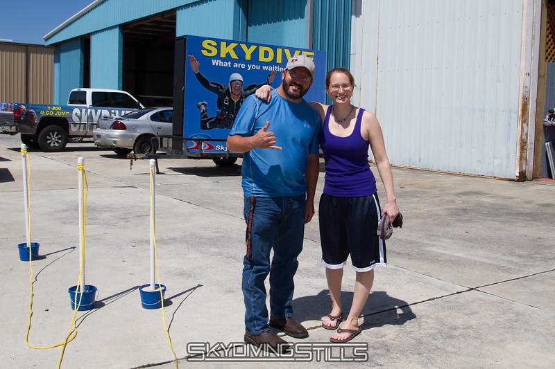 Sarah and JP the Caravan pilot.