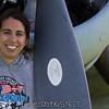 Melissa and a Hamilton Standard propeller.